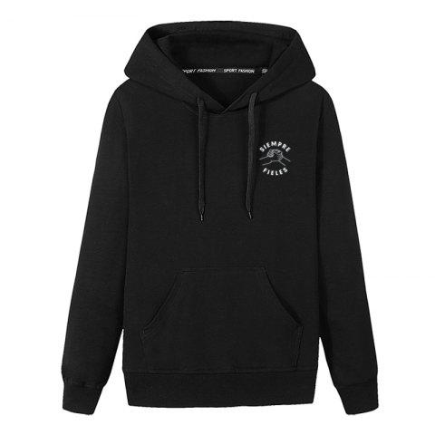 Store Men Students Pocket Stamp Hoodie