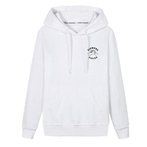 Outfit Men Students Pocket Stamp Hoodie