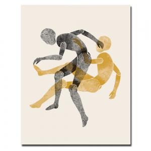 Canvas Inkjet Abstract Fitness Dynamic Painting Living Room Bedroom Restaurant Home Wall Art -