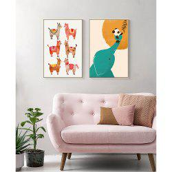 Canvas Print Decoration Cute Animal Bedroom Living Room Wall Art Painting -