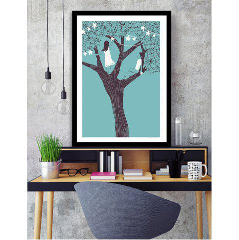 Sale Canvas Inkjet Abstract Cute Simple Painting Living Room Bedroom Restaurant Home Wall Art