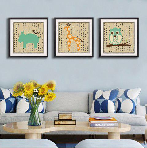Shops Canvas Inkjet Abstract Cute Animal Painting Living Room Bedroom Restaurant Hotel Home Wall Art