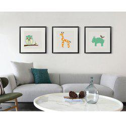 Canvas Inkjet Abstract Cute Animal Painting Living Room Bedroom Restaurant Hotel Home Wall Art -