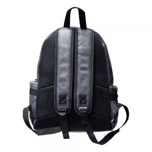 Preppy Style PU Leather School Backpack Bag For College Simple Design Men Casual Daypacks -