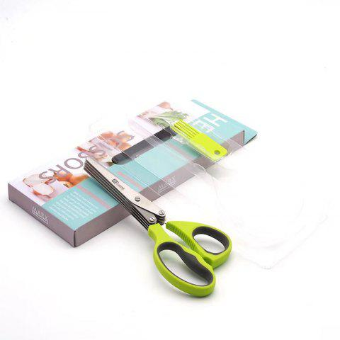 Fashion Stainless Steel Multifunctional 5 Layer Kitchen Scissors