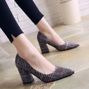 Summer New Pointed Thick with Single Shoes -