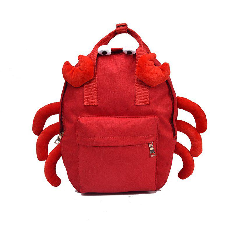 Outfits Cute Cartoon Sculpt Canvas Small Crab Fashion Bag