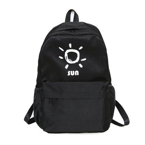 Fashion KKM186 Korean Edition Simple Printing College Backpack