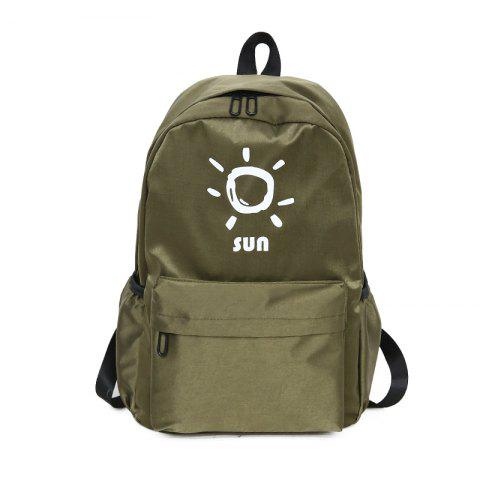 Affordable KKM186 Korean Edition Simple Printing College Backpack