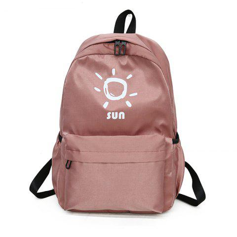 Chic KKM186 Korean Edition Simple Printing College Backpack