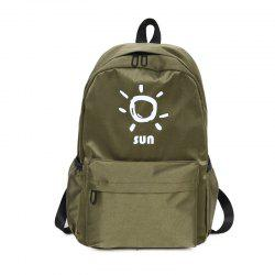 KKM186 Korean Edition Simple Printing College Backpack -