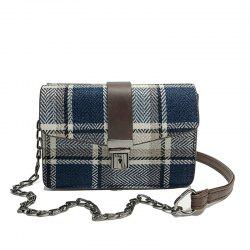JC6705 A Fashion Checkered Single Shoulder Bag -