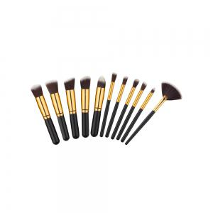 11PCS High Quality Professional Makeup Brushes with Fan Set -