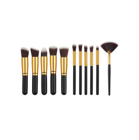 Affordable 11PCS High Quality Professional Makeup Brushes with Fan Set