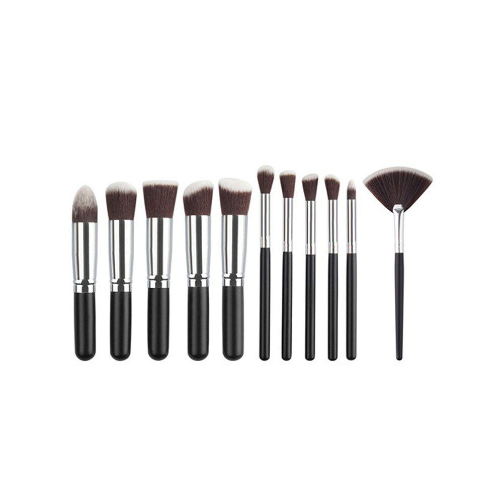 Sale 11PCS High Quality Professional Makeup Brushes with Fan Set