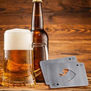 Stainless Steel Credit Card Size Casino Bottle Opener -