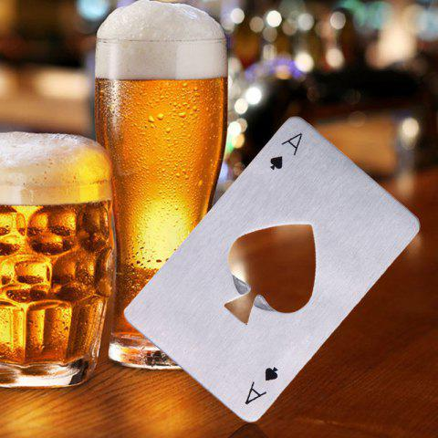 Store Stainless Steel Credit Card Size Casino Bottle Opener