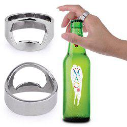 Creative Stainless Steel Beer Openers Finger Ring Ring-Shape Bottle Opener Bar Tools -