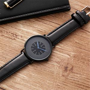 Business Men Luxury Sports Leather Band Quartz Wrist Watch -