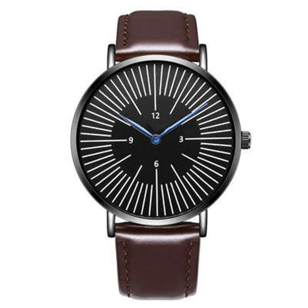 Discount Business Men Luxury Sports Leather Band Quartz Wrist Watch