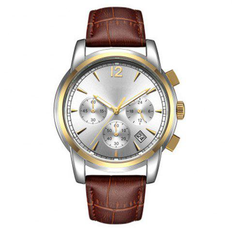 Best Men Sports Retro Design Leather Band Quartz Wrist Watch