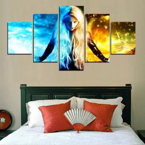MailingArt FIV603  5 Panels Girl of Ghost Wall Art Painting Home Decor Canvas Print -