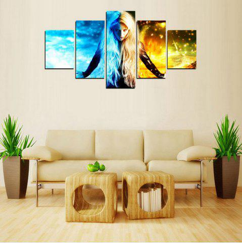 Trendy MailingArt FIV603  5 Panels Girl of Ghost Wall Art Painting Home Decor Canvas Print