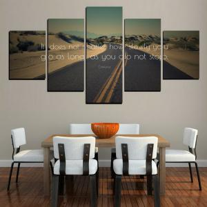 MailingArt FIV609  5 Panels The Moto Wall Art Painting Home Decor Canvas Print -