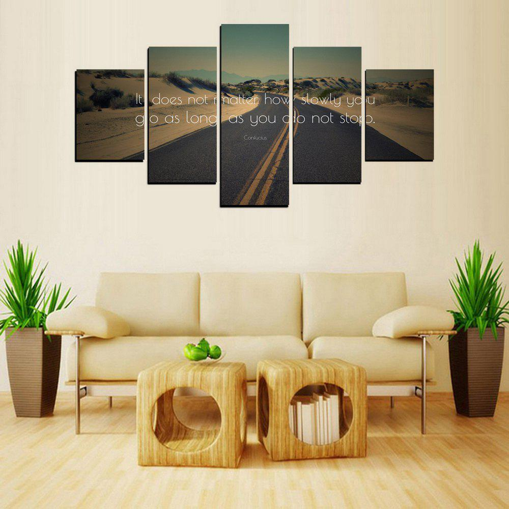 Outfit MailingArt FIV609  5 Panels The Moto Wall Art Painting Home Decor Canvas Print