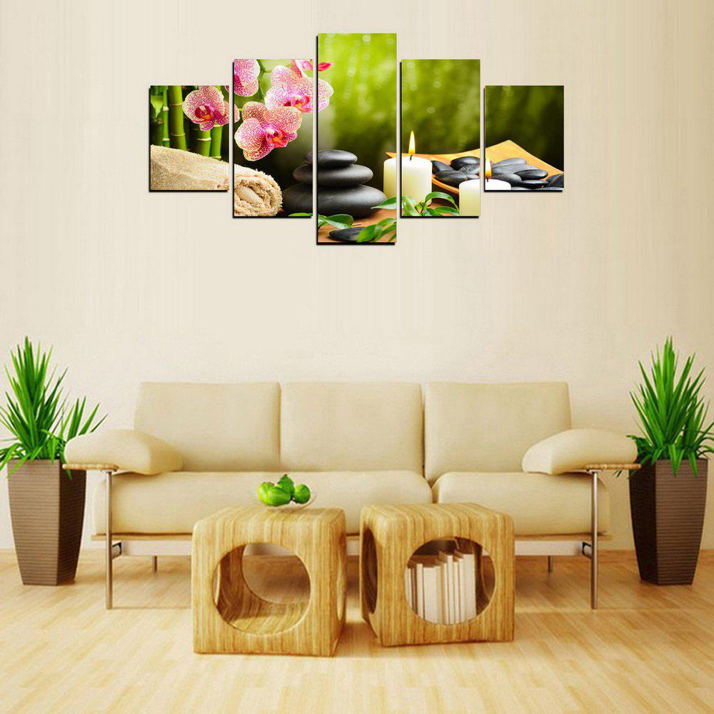Unique MailingArt FIV612  5 Panels SPA Picture  Wall Art Painting Home Decor Canvas Print