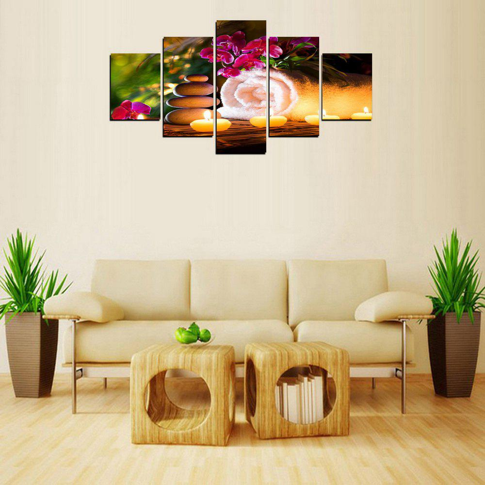 Latest MailingArt FIV615  5 Panels Landscape Wall Art Painting Home Decor Canvas Print