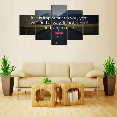 Affordable MailingArt FIV613  5 Panels Landscape Wall Art Painting Home Decor Canvas Print