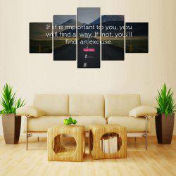 MailingArt FIV613  5 Panels Landscape Wall Art Painting Home Decor Canvas Print -
