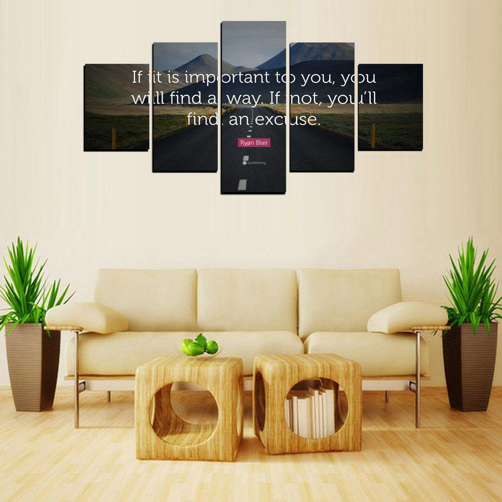 Trendy MailingArt FIV613  5 Panels Landscape Wall Art Painting Home Decor Canvas Print