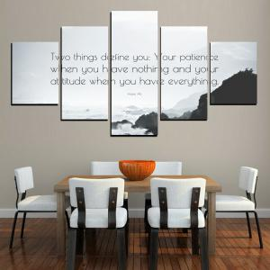 MailingArt FIV615  5 Panels Moto Wall Art Painting Home Decor Canvas Print -