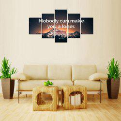MailingArt FIV616  5 Panels Landscape Wall Art Painting Home Decor Canvas Print -