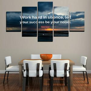 MailingArt FIV618  5 Panels Moto Wall Art Painting Home Decor Canvas Print -