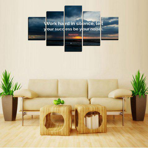 Affordable MailingArt FIV618  5 Panels Moto Wall Art Painting Home Decor Canvas Print