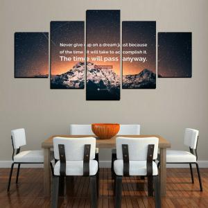 MailingArt FIV619  5 Panels The Moto Wall Art Painting Home Decor Canvas Print -
