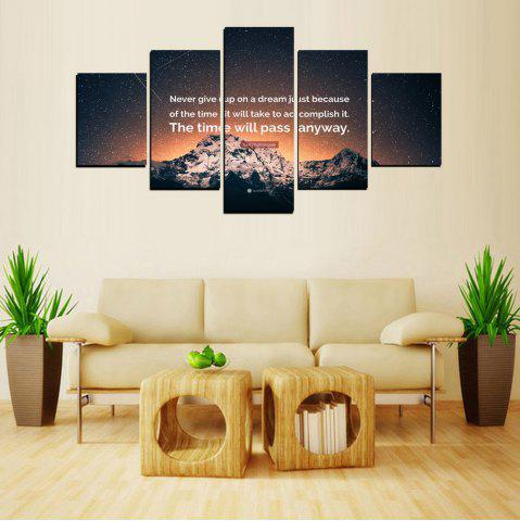 Buy MailingArt FIV619  5 Panels The Moto Wall Art Painting Home Decor Canvas Print