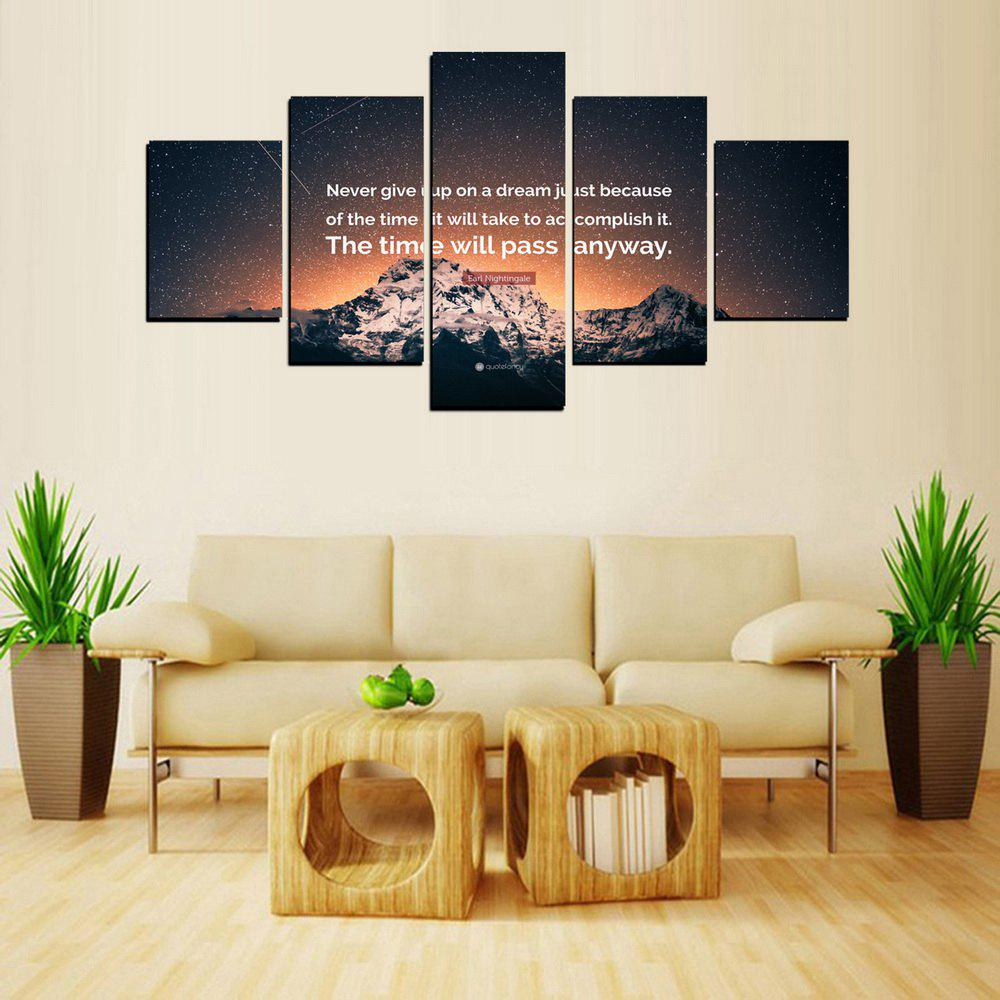Hot MailingArt FIV619  5 Panels The Moto Wall Art Painting Home Decor Canvas Print