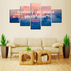 MailingArt FIV620  5 Panels Moto Wall Art Painting Home Decor Canvas Print -