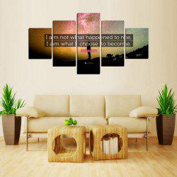 MailingArt FIV621  5 Panels Landscape Wall Art Painting Home Decor Canvas Print -