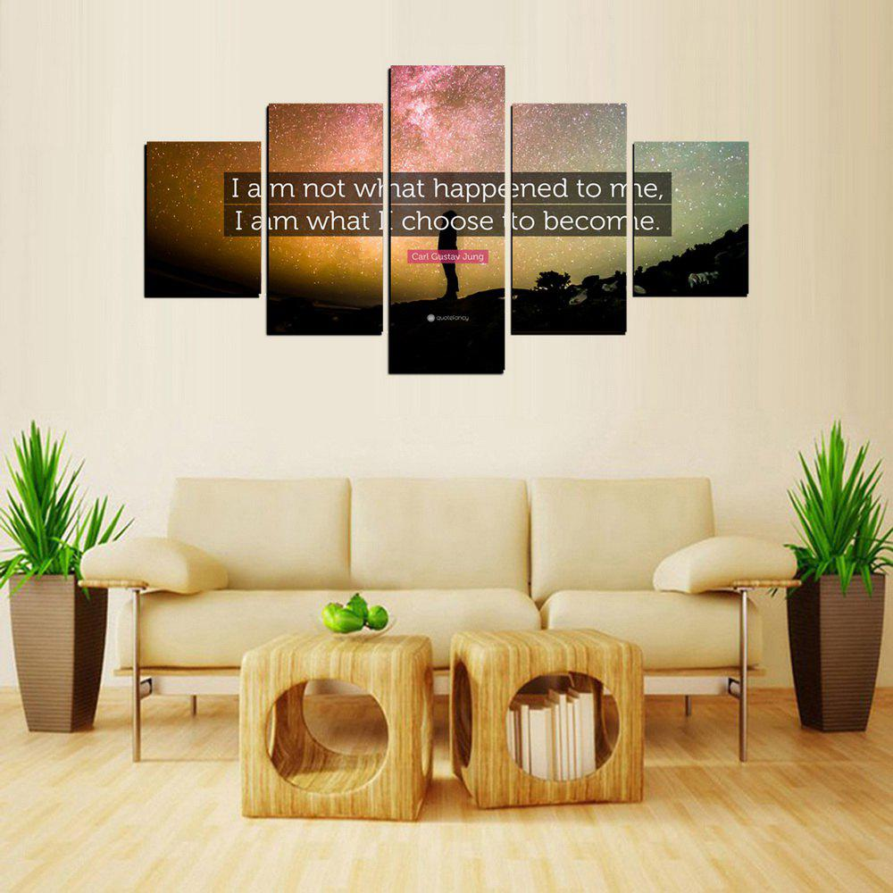 Outfit MailingArt FIV621  5 Panels Landscape Wall Art Painting Home Decor Canvas Print