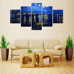 MailingArt FIV622  5 Panels Landscape Wall Art Painting Home Decor Canvas Print -