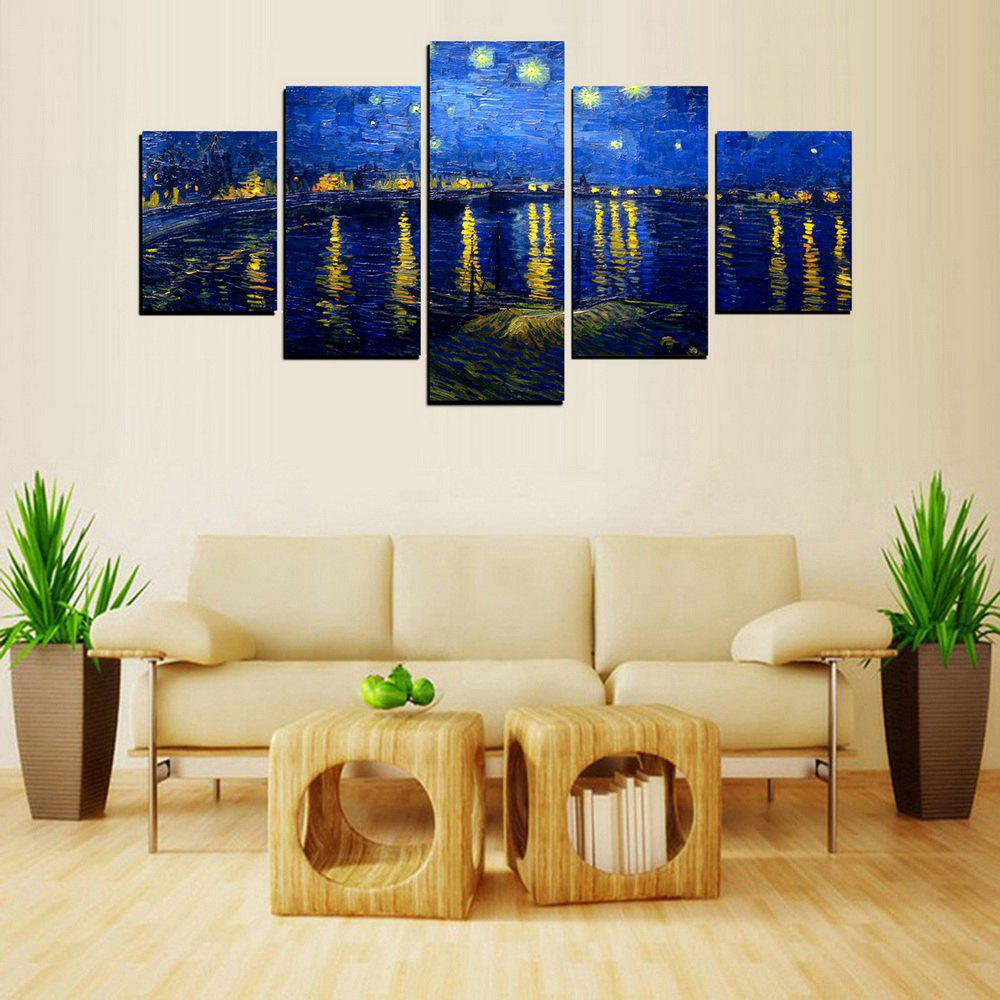 Shops MailingArt FIV622  5 Panels Landscape Wall Art Painting Home Decor Canvas Print