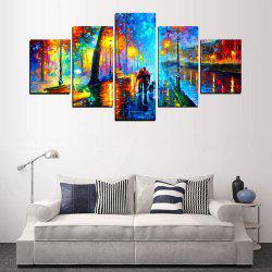 MailingArt FIV623  5 Panels Landscape Wall Art Painting Home Decor Canvas Print -