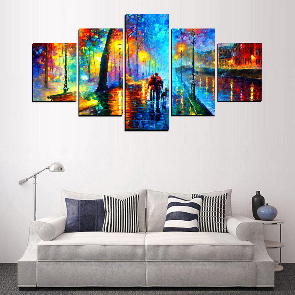 Outfit MailingArt FIV623  5 Panels Landscape Wall Art Painting Home Decor Canvas Print