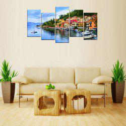MailingArt FIV624  5 Panels Seascape Wall Art Painting Home Decor Canvas Print -