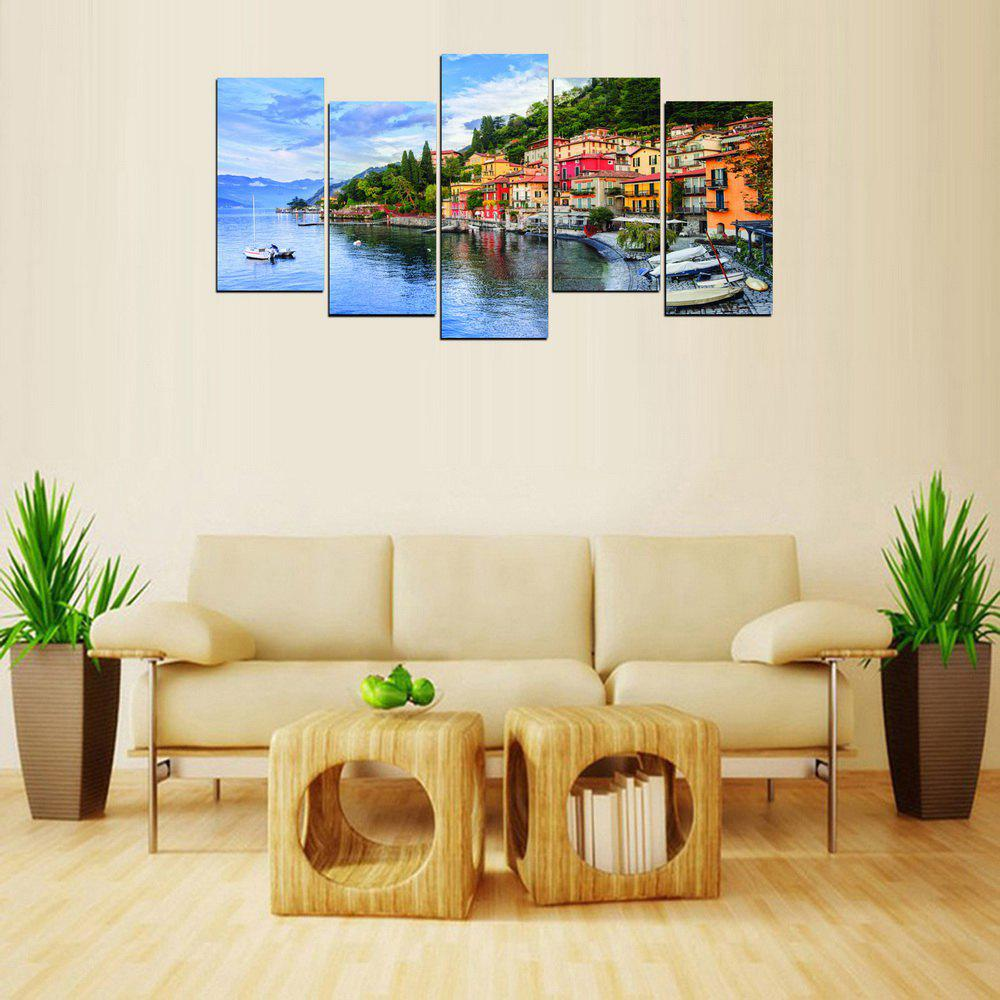 Unique MailingArt FIV624  5 Panels Seascape Wall Art Painting Home Decor Canvas Print